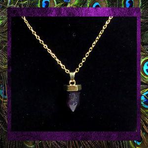 Jewelry - SALE Purple Amethyst Crystal Necklace #JWL-184